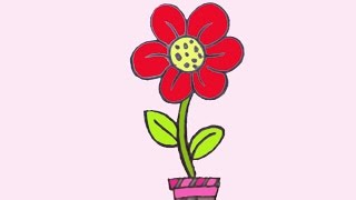 how to draw easy flower for kids  ফুল আঁকা খুব সহজ