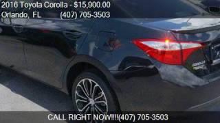 2016 Toyota Corolla 4dr Sedan CVT S Plus for sale in Orlando