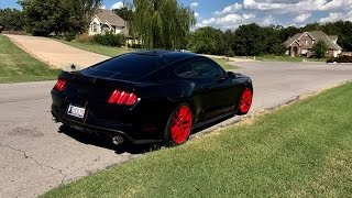 My 2015 Mustang GT Outlaw Exhaust W/ Red Wheels (Eibach Springs, Flowmaster Outlaws & More! Custom!)