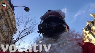 Vigilante Santa Biker Brings Road Justice In Paris