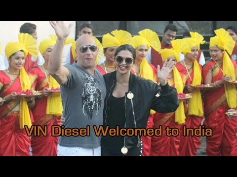 VIN Diesel welcomed to India by women on Royal Enfield bikes : NewspointTv