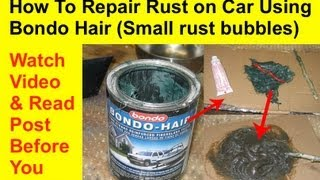 How To Repair Rust on Car Using Kitty Hair or Bondo Hair (Small Rust Bubbles)