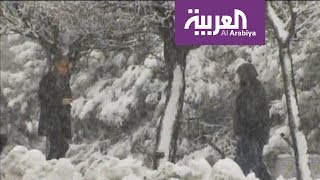 موجة باردة تجتاح الشرق الاوسط وشمال السعودية الجمعة وتسبب امطارا وثلوج