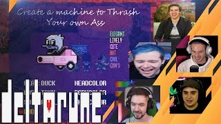 Gamers Reactions to THRASH YOUR OWN ASS MACHINE | Deltarune
