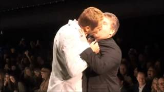 James Corden kisses (still better love story than twilight)