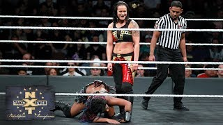 Shayna Baszler unleashes a ruthless stomp on Ember Moon's left elbow: NXT TakeOver: Philadelphia