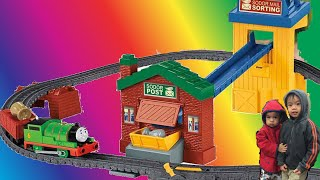 Thomas the Train TrackMaster Sort & Switch Delivery Set. #trackmaster #sortandswitch Train Set