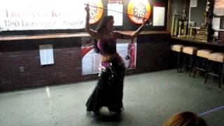 Elvira Taylor belly dancing to