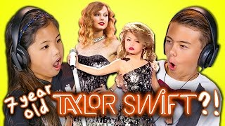 KIDS REACT TO 7 YEAR OLD TAYLOR SWIFT?!