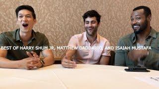 Best of Harry Shum Jr., Matthew Daddario and Isaiah Mustafa at San Diego Comic Con 2017