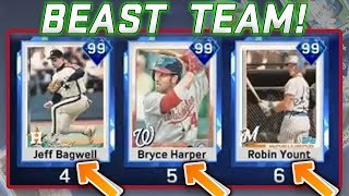 HE HAS 99 BAGWELL 99 HARPER AND 99 YOUNT?! RANKED SEASONS MLB THE SHOW 17 DIAMOND DYNASTY
