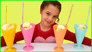 Ice Cream Learn Colors for Kids with Johny Johny Yes Papa with Candy and Sweets, Learn Colours