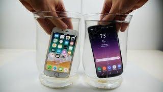 iPhone 8 vs Samsung Galaxy S8 Salt Water Test!