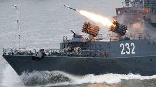 Marinha Russa ataca alvos rebeldes na Síria com mísseis Kalibr-NK e P-800 Oniks.