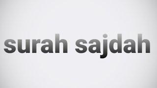 الشيخ ياسر الدوسري سورة السجدة..تلاوة جميلةsurah sajdah  | Beautiful Qur