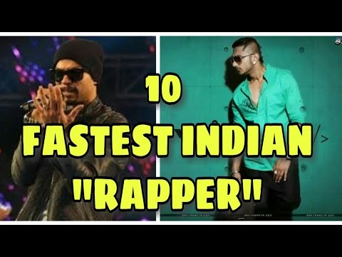 10 FASTEST INDIAN RAPPER ! HONEST TOP 10 LIST