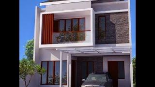 Contoh Rumah Minimalis 2 Lantai Type 36, Desain Rumah Minimalis 2 Lantai Type 36
