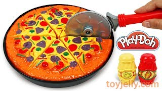 Toy Velcro Cutting Fruits & Vegetables Food PlayDoh Microwave and Oven Cooking Baking Pizza for Baby