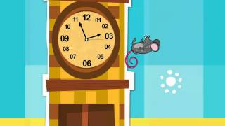 Hickory Dickory Dock -- NEW - high quality 1080p! - Nursery Rhyme