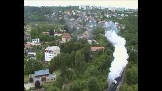 Mezinárodní setkání provozních Parních lokomotiv - Jízdy vlaků mezi Prahou a Lužnou