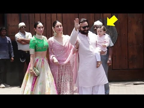 Xxx Mp4 Saif Ali Khan Kareena Kapoor Taimur Ali Khan S GRAND ENTRY At Sonam Kapoor S Wedding 2018 3gp Sex