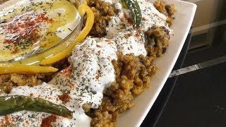 Afghani Shola Recipe - Sticky Afghan Rice with Yogurt  - Vegetarian Recipe - کچری قروت افغانی