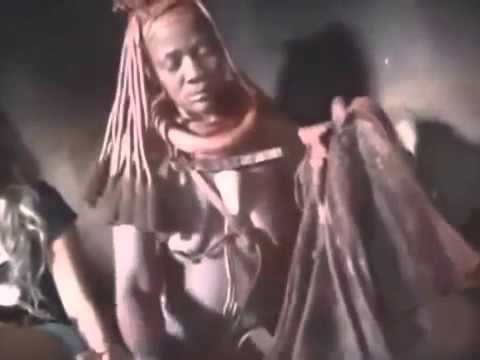 Japan girl traveling isolated Himba Tribe