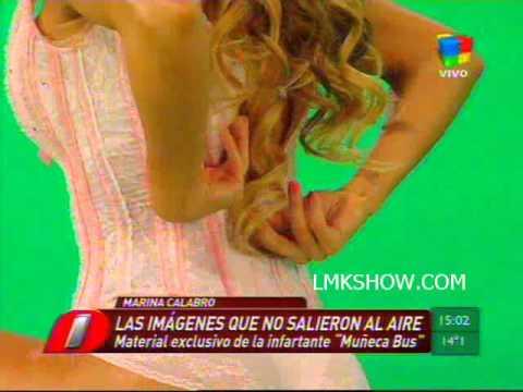 El crudo de Marina Calabro en Muñeca Bus
