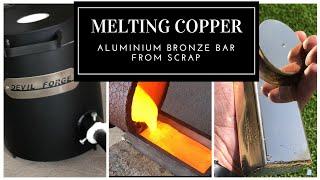 Melting Copper - Trash To Treasure - Aluminum Bronze made from scrap copper & Aluminium