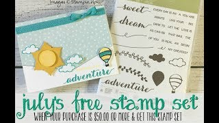 July's Host Code & Project & Stamp Set Giveaway