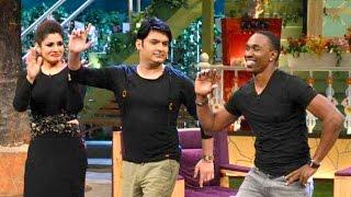 Dwayne Bravo Funny Dance With Raveen Tondon At Kapil Sharma Show !!