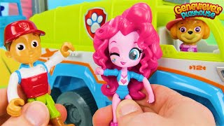 Best Paw Patrol Toy Video for Kids Learn Colors, Animal Names with My Little Pony & Jungle Patroller