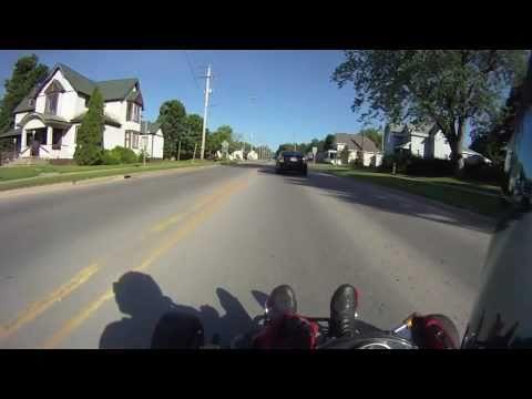 R1 Go Kart Passes a Cop