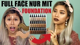 FULL FACE ONLY USING FOUNDATIONS! 😱 l Kisu