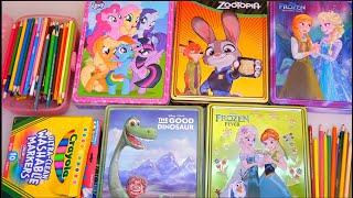 Dibujos para colorear para niñas y niños de Zootopia, MLP, Frozen Anna y Elsa | Juguetes con Andre