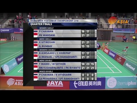 Xxx Mp4 Team Quarter Final Badminton Asia Junior Championships 2018 Thailand Vs Indonesia 3gp Sex