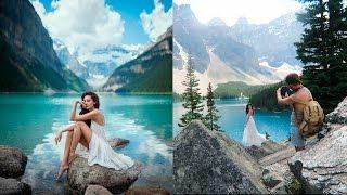 Mountain Lake Photoshoot Behind The Scenes