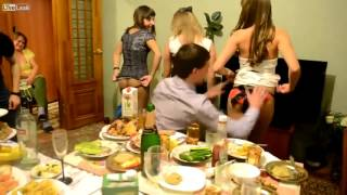 LiveLeak com   3 Teen Girls Strip Off Thier Panties And Give Them As Gifts During Bizarre Birthday P