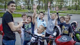 Moto stunt in Azov  Мото трюки в Азове