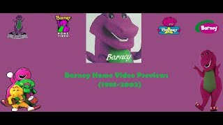 Barney Home Video Previews/Trailers 1988-2002 (My Version)