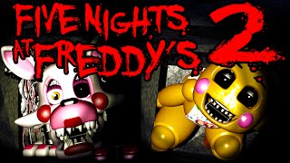 Five Nights at Freddy's 2 NIGHT 4 Mangle Mauling Puppet Cutscene Horror BLIND Gameplay PART 5