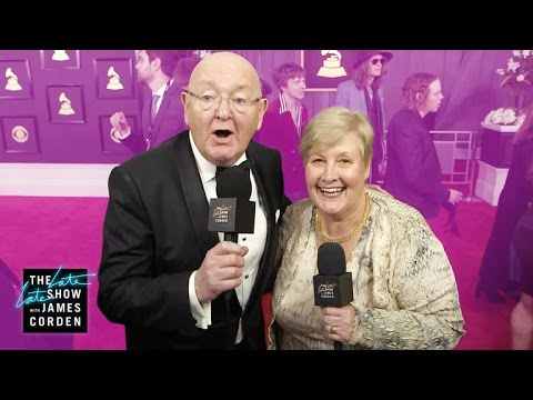 James Corden s Parents Head to the GRAMMYs