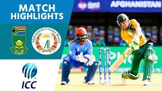 ICC #WT20 - Afghanistan vs South Africa - Match Highlights