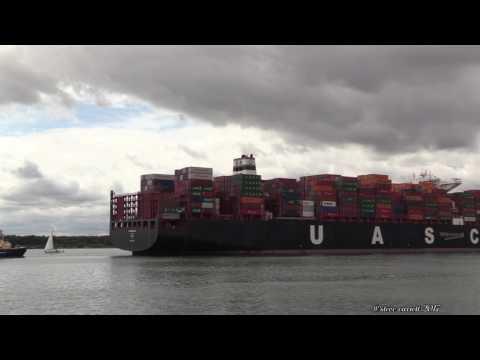 Xxx Mp4 UASC Al Nasriyah Container Ship Arrives DP World Southampton 16 717 3gp Sex