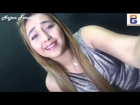 Najwa Farouk live on Facebook, so beautiful