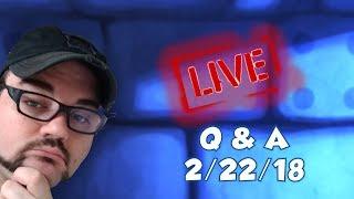 Live Q&A with Derek Porter 2-22-2018