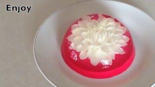 3D GELATIN DALIA FLOWER WITH GOUGE NEEDLE