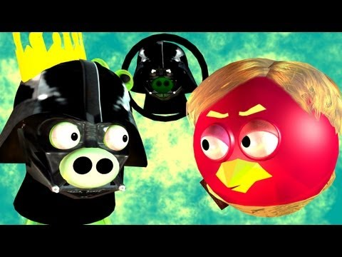 Game Mashup ANGRY BIRDS STAR WARS MORTAL KOMBAT part2 ♫ 3D animated ☺ FunVideoTV Style ;