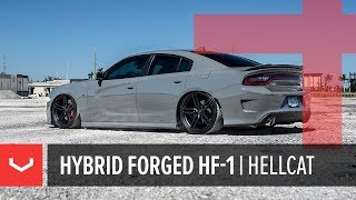 Vossen Hybrid Forged HF-1 Wheel | Dodge Charger Hellcat | Satin Black