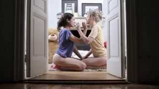 Hot Blonde and Brunette seducing Bear